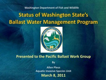 Status of Washington State's Ballast Water Management Program