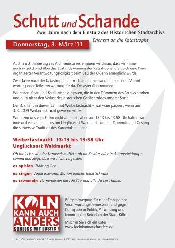 Weiterleiten - Köln kann auch anders