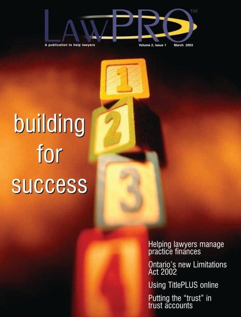 Volume 2, issue 1, 2003 - practicePRO.ca