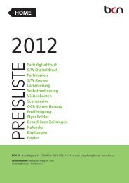 Preisliste - BCN Copyshop Wien - drucken - kopieren