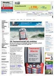 Få Tsunamivarsel på mobilen - Tsunami Alarm System