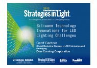 Silicone Technology Innovations for LED Lighting ... - Dow Corning