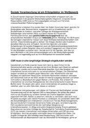 Soziale Verantwortung ist Chefsache - Rudolf X. Ruter