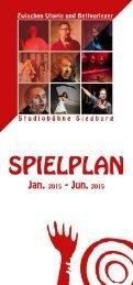 Spielplan Jan. - Jun. 2015