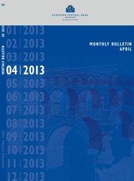 ECB Monthly Bulletin April 2013 - European Central Bank - Europa