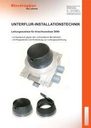 UNTERFLUR-INSTALLATIONSTECHNIK - Electraplan