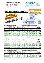 BGF05 Preise - Riwag Präzisionswerkzeuge AG