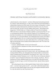 Konstanten und Kurzläufer in der deutschen Sprache - Duden