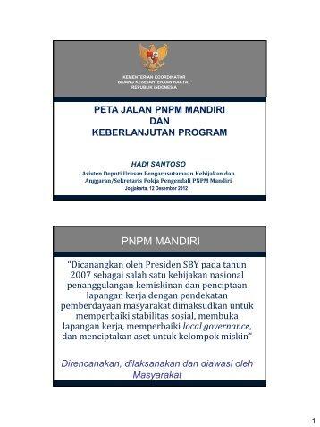 Peta Jalan PNPM Mandiri dan Keberlanjutan Program - DEFINIT.Asia