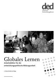 Globales Lernen - Bildung trifft Entwicklung