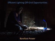 Barefoot Power Efficient Lighting Off-Grid Opportunities - Delhi ...