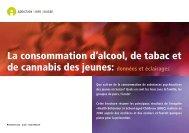 La consommation d'alcool, de tabac et de ... - Rauchfreie Lehre
