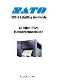 Sato CL608e CL612e Benutzerhandbuch