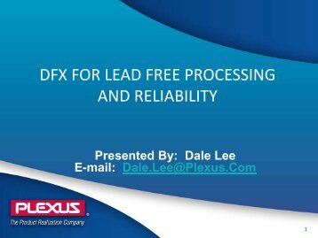 Lead Free Soldering - SMTA