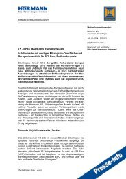Mehr Sicherheit für Garagentore - Hörmann KG