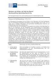 Merkblatt zum Aufbau und Inhalt des Reports Abschlussprüfung ...