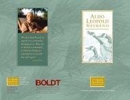 Aldo Leopold Weekend brochure - The Aldo Leopold Foundation