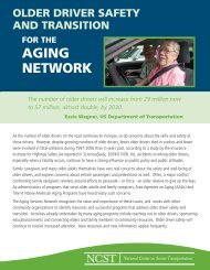 Older Driver Safety and Transition for the Aging Network - n4a
