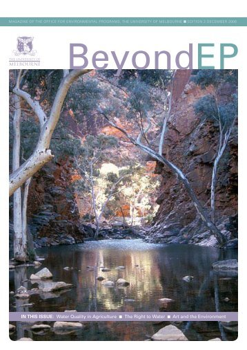 In thIs Issue: Water Quality in Agriculture The Right to Water Art and ...