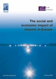 The social and economic impact of airports in Europe The social and ...
