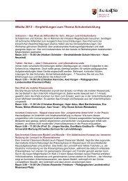 Empfehlungen zum Thema Schulentwicklung - iMedia