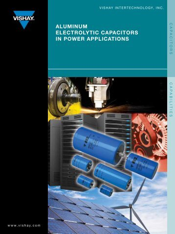 AlUminUm elecTrolyTic cApAciTors in power ApplicATions