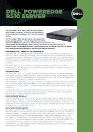 "DELLâ""¢ POWEREDGEâ""¢ R510 SERVER - Starnet Data Design, Inc"