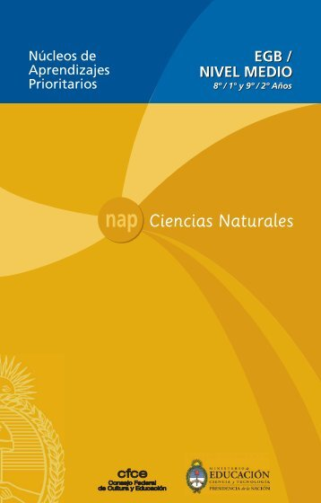 Ciencias Naturales - Ministerio de Educación