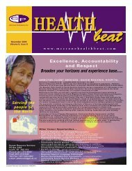 November 2005 - McCrone Healthbeat
