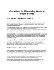 Guidelines for Minimising Waste at Public Events - Zero Waste
