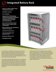 Integrated Battery Rack Spec Sheet - OutBack Power Technologies