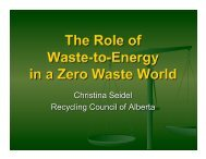 The Role of Waste to Energy in a Zero Waste World - Recycling ...