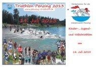 Ausschreibung - Triathlon Penzing
