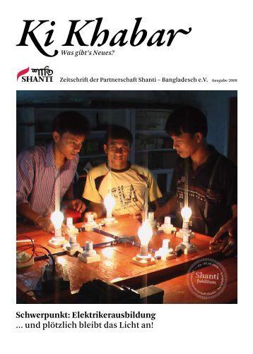 KiKhabar 2008 - Shanti Partnerschaft Bangladesch eV