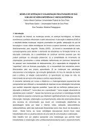 Modelo de interação e colaboração em atividades de EAD com uso ...