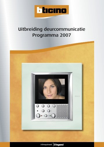 Download aanvullende catalogus - Legrand