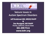 Seizure Issues in Autism Spectrum Disorders Seizure Issues ... - icdrc