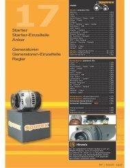 Starter Starter-Einzelteile Anker Generatoren ... - sparex.com.pl