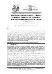 Manufatura Sustentavel - Advances In Cleaner Production