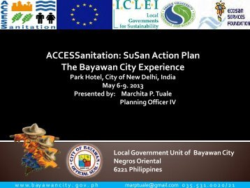 ACCESSanitation: SuSan Action Plan The Bayawan City Experience