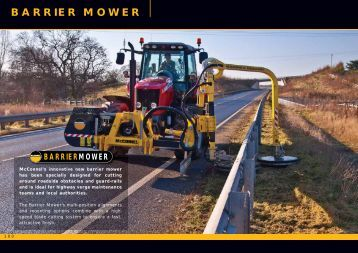 Barrier Mower pages from McConnel Product Guide