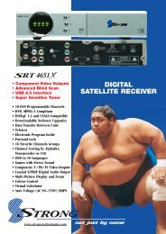 DIGITAL SATELLITE RECEIVER - Supreme Antennas