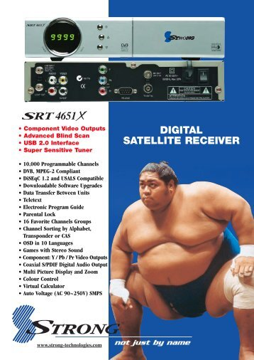 DIGITAL SATELLITE RECEIVER - Supreme Antennas