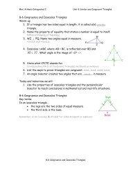 8-6 Congruence and Isosceles Triangles notes