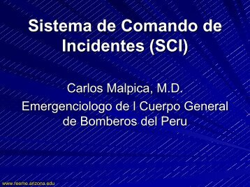 Sistema de Comando de Incidentes (SCI) - Reeme.arizona.edu
