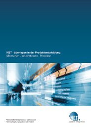 Unternehmensflyer (PDF) - NET AG engineering team
