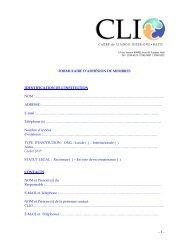 FORMULAIRE D'ADHÉSION DE MEMBRES ... - Cliohaiti.org