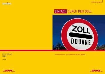EinfAcH DURcH DEn ZOLL. - DHL
