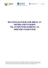Medikamentskrin retningslinjer - Vestre Viken HF