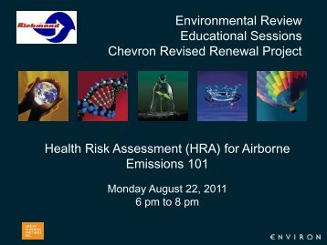Health Risk Assessment for Airborne Emissions 101 Presentation